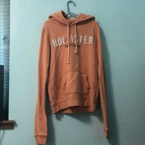 Hollister light orange sweatshirt